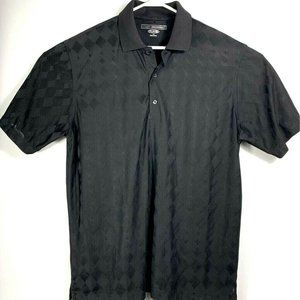 Greg Norman Play Dry Mens Polo Shirt Black Top L